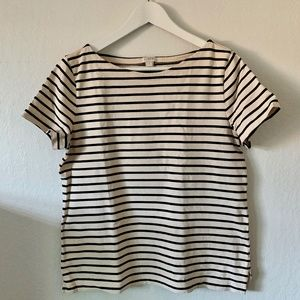 J.Crew Striped Short Sleeve Boatneck Tee